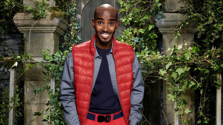 I'm A Celebrity... Get Me Out Of Here! Sir Mo Farah CBE. Pic ITV