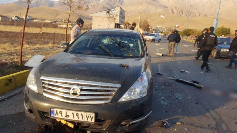 The scene of the attack. Pic: IRIB/EPA-EFE/Shutterstock