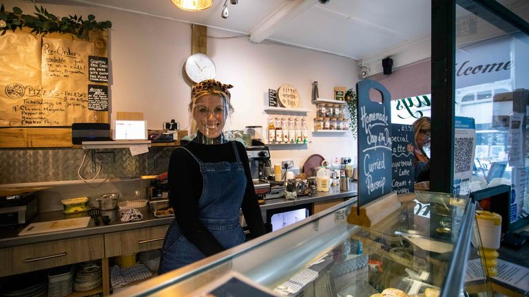 Coffee shop owner Charlotte Madden is delighted about Isle of Wight's Tier 1 status