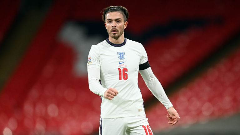 England's Jack Grealish during a UEFA Nations League match