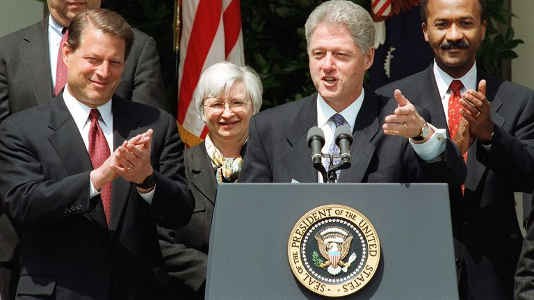 Janet Yellen served the Clinton administration as chairman of the Counsel of Economic Advisors