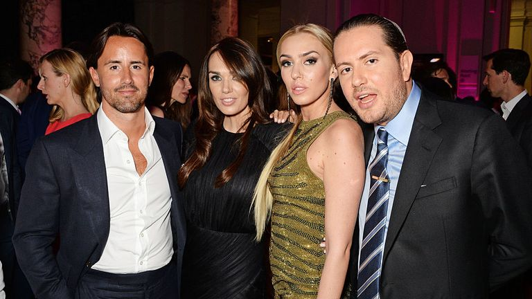 Jay Rutland, Tamara Ecclestone, Petra Stunt and James Stunt (L-R) in 2014
