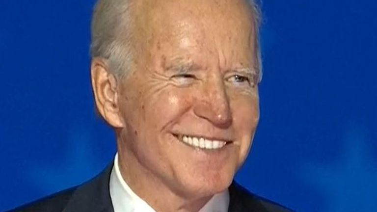 Joe Biden urges his supporters to 'keep the faith' as they wait for an election result