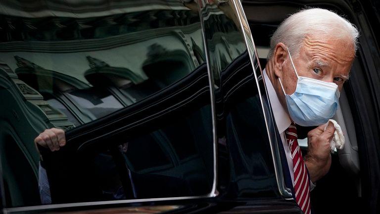 Joe Biden wearing a mask