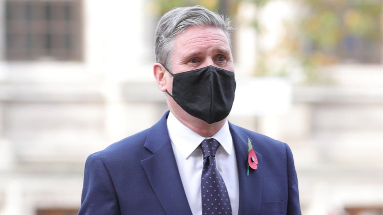 Labour leader Sir Keir Starmer was also in attendance