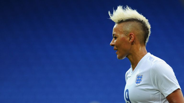 England forward Lianne Sanderson says 'we must continue the conversation'