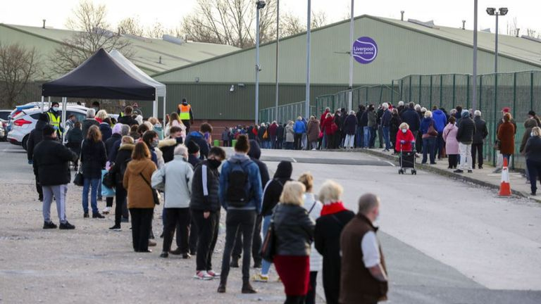 Hundreds of people were tested for COVID-19 today as the government opened up new mass testing facilities in Liverpool