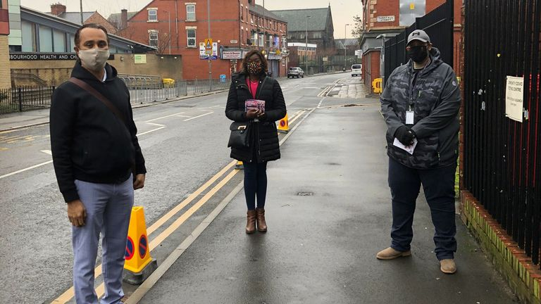 Liverpool City councillors Abdul Qadir, Nathalie Nicholas and Calvin Smeda