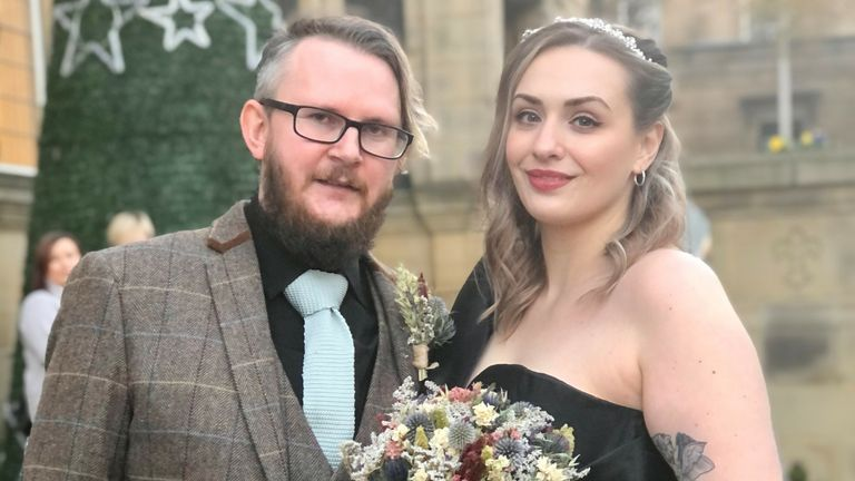Darren and Paige Phillips brought their wedding forward