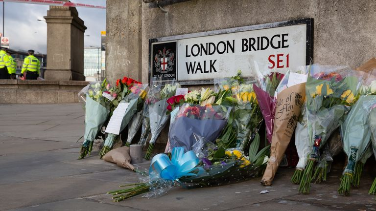 Two days after London Bridge terror attack police�officers keep the street closed to secure the investigation, London, England, December 1, 2019. Two persons were killed and a number injured in the attack. (Photo by Michal Busko/Sipa USA)
