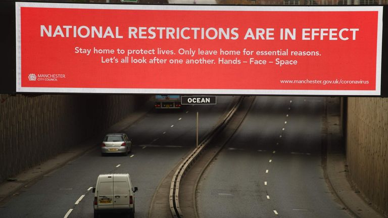 A warning message from Manchester City Council