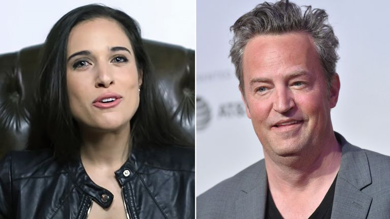 Molly Hurwitz and Matthew Perry. Pics: Uptomyknees/ Erik Pendzich/