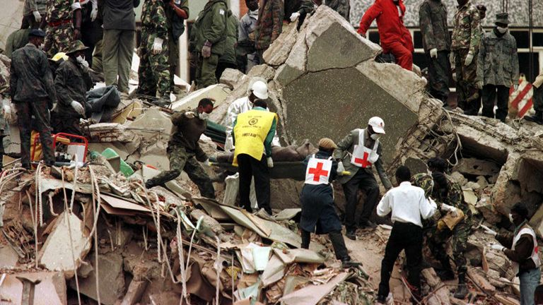 The bombing at the US Embassy in 1998 killed 158 and injured 4,824