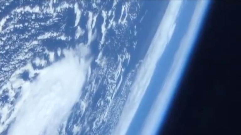 A NASA astronaut who arrived on board the ISS  has posted video of Earth he enjoyed as he journeyed aboard SpaceX's Crew Dragon
