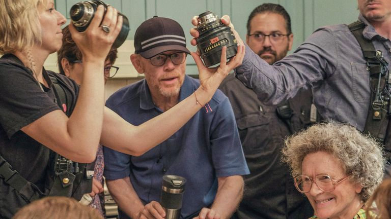 Director Ron Howard on set
