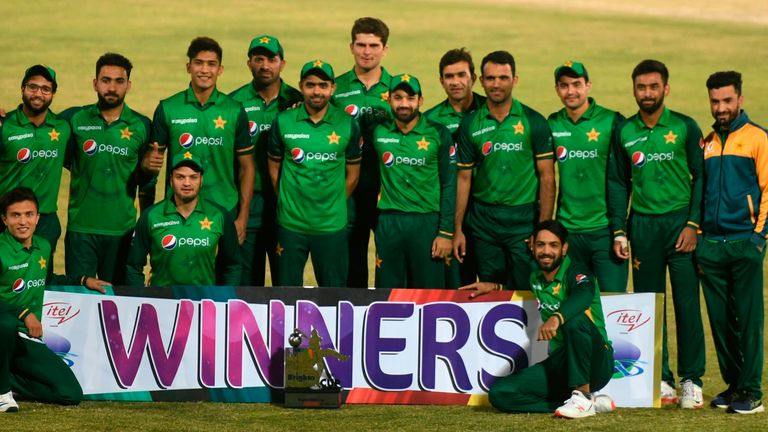 England will play the Pakistan limited-overs side (pictured) in two Twenty20 matches next year
