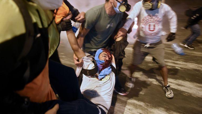 Protests became violent on Saturday
