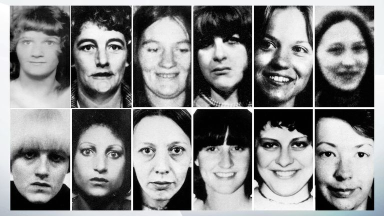 The 13 victims of the Yorkshire Ripper. Pic: Shutterstock