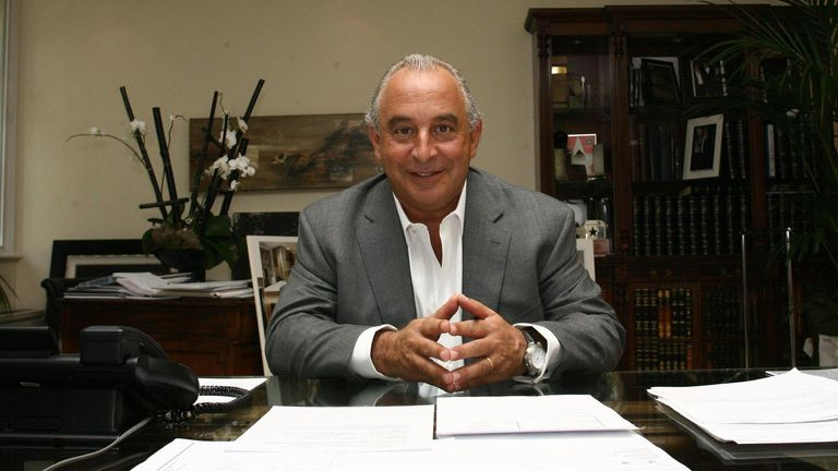 Philip Green relaxes in his London Office