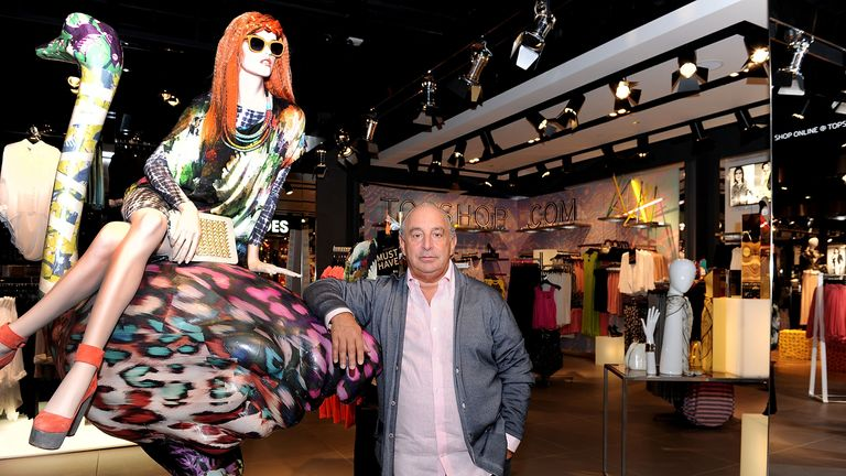LAS VEGAS, NV - MARCH 07: Sir Philip Green during the TOPSHOP TOPMAN Las Vegas Exclusive Preview at the Fashion Show Mall on March 7, 2012 in Las Vegas, Nevada. (Photo by Denise Truscello/WireImage)