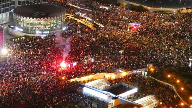 Huge rallies took place in Poland's capital, Warsaw