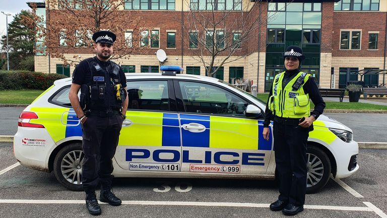 Pc Uzma Amireddy of North Yorkshire Police wears a newly designed hijab
