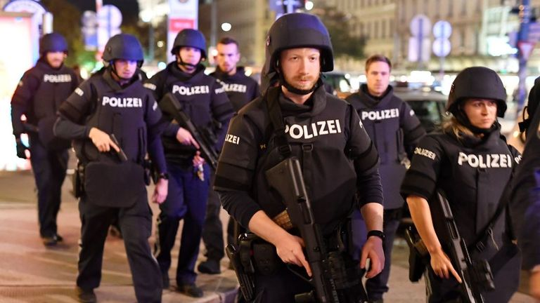 Several people are said to have been killed in Vienna