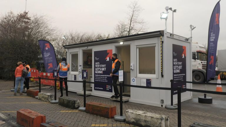 One of the government's information points
