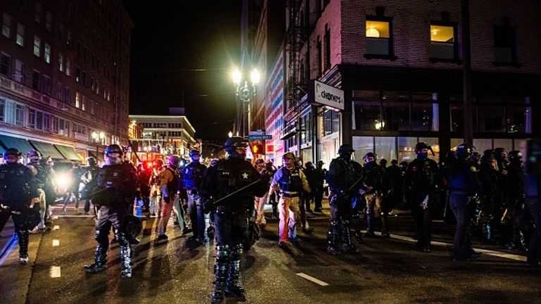 Eleven were arrested during protests in Portland, Oregon