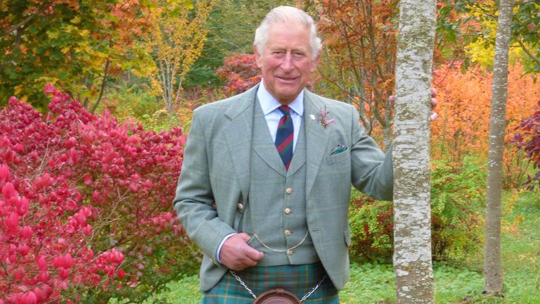 A photo of Prince Charles in Scotland was released for his 72nd birthday