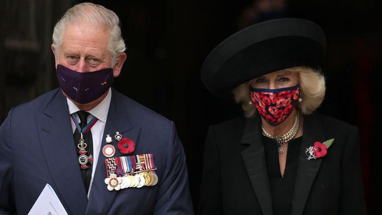 Prince Charles and his wife Camilla, Duchess of Cornwall also attended the service