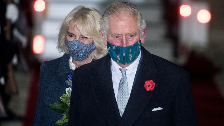 Prince Charles and Camilla landed at the newly opened Berlin Brandenburg Airport on Saturday night