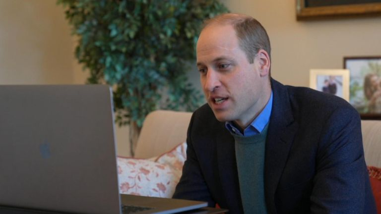 Duke of Cambridge congratulates Oxford researchers in a video call after their vaccine was found to be up to 90% effective