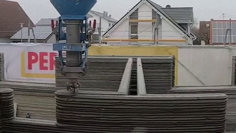 Europe's largest 3D printed house under construction