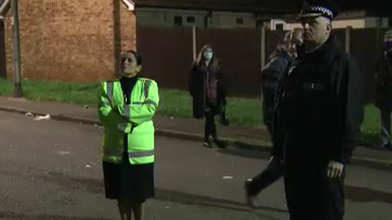 Priti Patel on a county lines raid with Kent Police