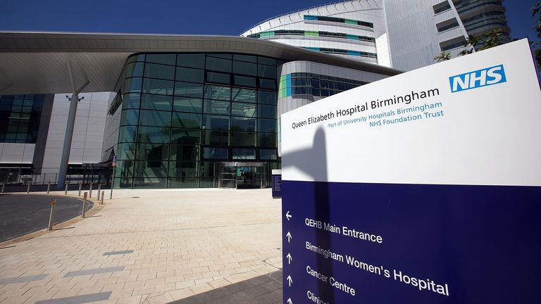 BIRMINGHAM, ENGLAND - JUNE 16: An exterior view of the new Queen Elizabeth super hospital on June 16, 2010 in Birmingham, England. Patients have begun to move into the new GBP 545 million facility today from Selly Oak and the old Queen Elizabeth Hospital