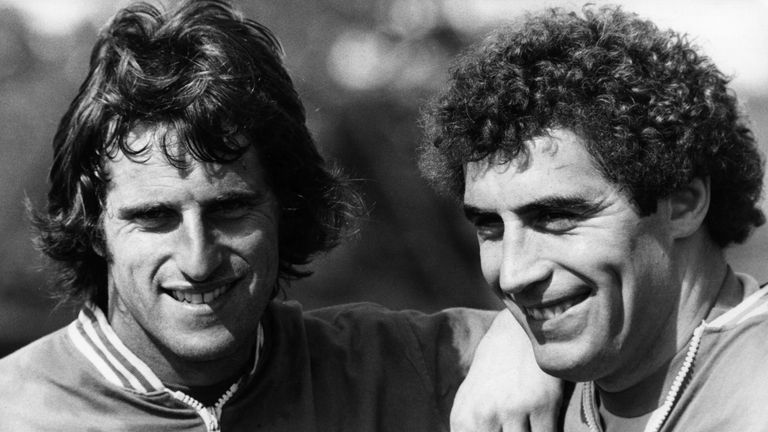 Ray Clemence and Peter Shilton in 1979