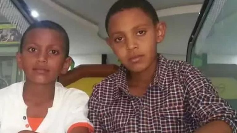 Ridwan (right0 with his younger brother who died crossing the Mediterranean