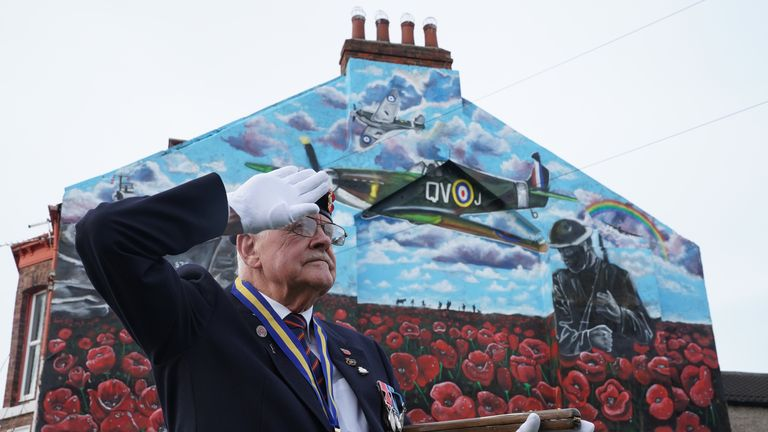 Eric Howden, 76, former member of the Royal Ordnance Corps, in Redcar, North Yorkshire