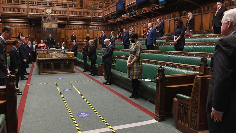 A silence was also observed in the House of Commons. Pic: UK Parliament/Jessica Taylor