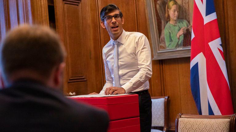 Rishi Sunak preparing his spending review speech