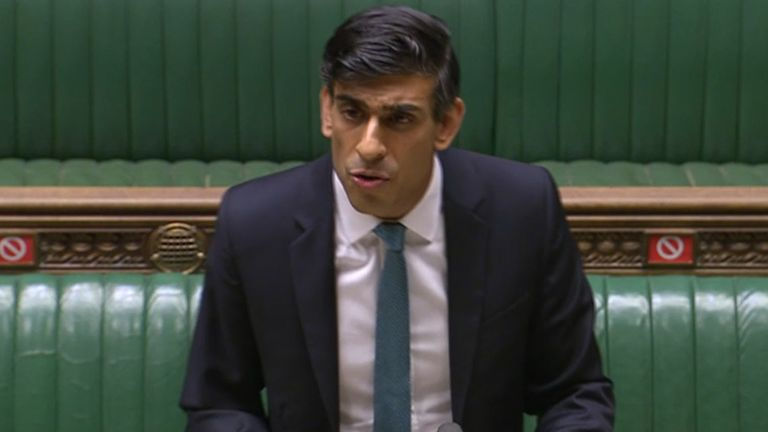 Chancellor of the Exchequer Rishi Sunak delivers his one-year Spending Review in the House of Commons, London.
