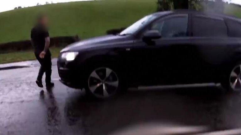 Road rage in Glasgow