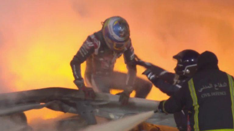 رومان جروجان: سائق الفورمولا 1 يغادر المستشفى بعد حادث مروع في سباق الجائزة الكبرى في البحرين |  أخبار المملكة المتحدة