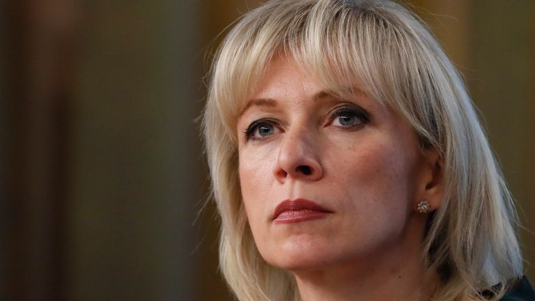 Russia's Foreign Ministry spokeswoman Maria Zakharova listens during the annual news conference in Moscow