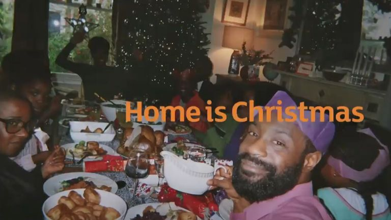 The Sainsburys advert showed a black family at Christmas