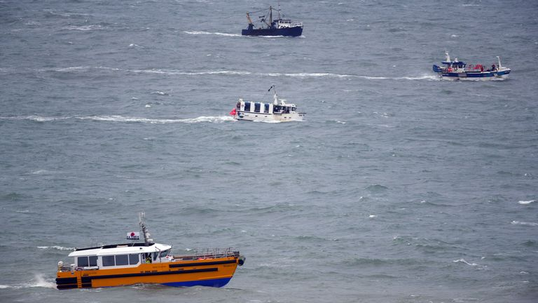 Boats search for two missing fishermen near Seaford, Sussex