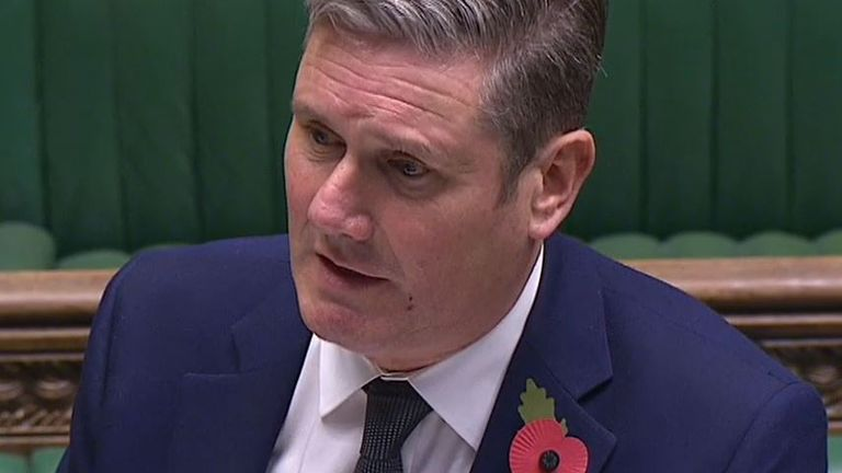 Sir Keir Starmer wants to know whether UK lockdown will be extended if the R rate has not lowered