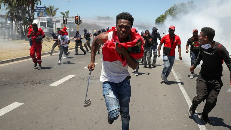 Police used tear gas to disperse protesters