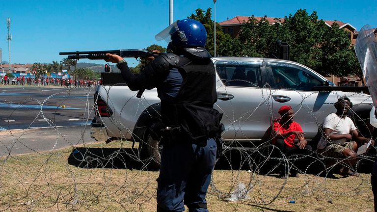 Rubber bullets were fired at demonstrators